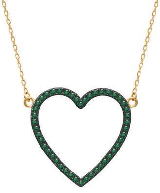GABIRIELLE JEWELRY Gold Over Silver Cz Choker Necklace