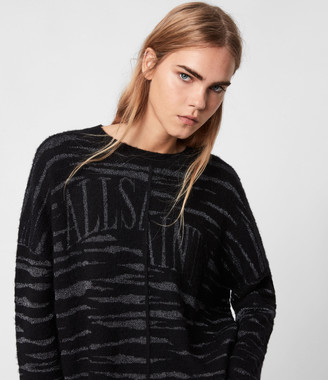 AllSaints Split Saints Tiger Jumper