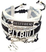 Generic Braided Pit Bull Bracelet Best Friend Dog Paw Charm
