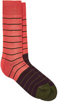 Paul Smith Men's Striped Mid-Calf Socks