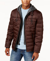 Buffalo David Bitton Men's Quilted Hooded Puffer Coat