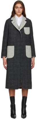 Thom Browne Grey Wool Elongated Sack Coat