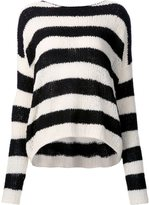ATM Anthony Thomas Melillo striped boat neck jumper