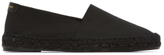 Saint Laurent Black Ottoman Espadrilles