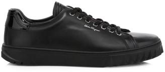 Salvatore Ferragamo Cube Leather Sneakers