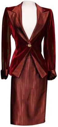 N. Non Signé / Unsigned Non Signe / Unsigned \N Burgundy Velvet Jackets