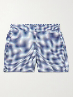 Frescobol Carioca Mid-Length Printed Swim Shorts - Men - Blue