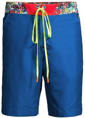 Robert Graham Roure Print-Waist Swim Trunks