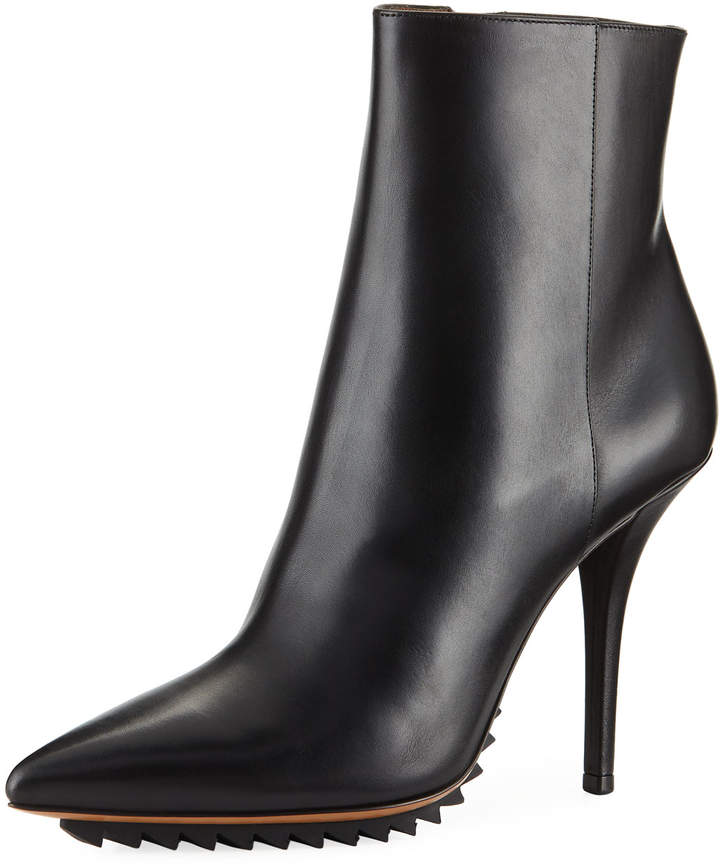 Givenchy Strettoia Leather Pointed-Toe Ankle Boot