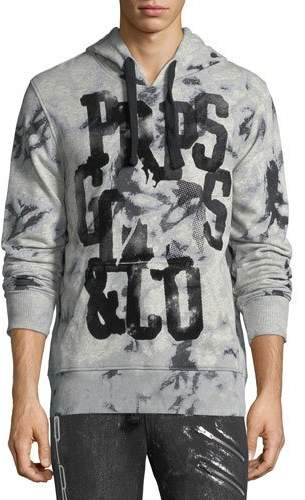 PRPS Bleached Cotton Logo Hoodie