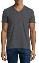 Burberry Short-Sleeve Jersey T-Shirt, Dark Gray Melange