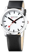 Mondaine 'Simply Elegant' Leather Strap Watch, 41mm
