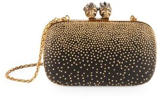Alexander McQueen Queen & King Embellished Leather Clutch