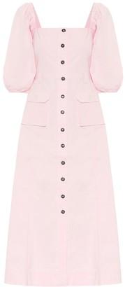 Ganni Stretch-cotton chino midi dress