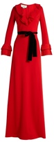 Gucci Frill-trimmed jersey gown