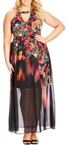 City Chic Plus Size Women's 'Floral Dream' Maxi Dress