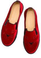 Charlotte Olympia Women's Cool Cats Slip-On Sneaker