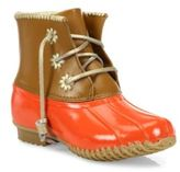 Jack Rogers Chloe Classic Whipstitch Leather & Rubber Boots
