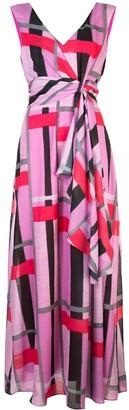 Josie Natori taisho stripe maxi dress