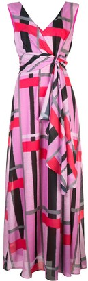 Josie Natori Taisho Stripe Maxi Dress