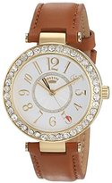 Juicy Couture Cali Women's Quartz Watch with Silver Dial Analogue Display and Brown Leather Strap 1901397