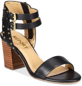 Report Phoebe Two-Piece Block-Heel Sandals