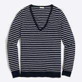 J.Crew Factory Striped cotton V-neck sweater