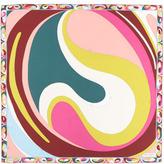 Emilio Pucci Yin Yang Timeless Silk Scarf, Fuchsia/Multicolor