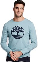 Timberland Men's LONG SLEEVE Tree Logo Ringer T-Shirt