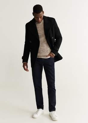 MANGO MAN - Double-breasted wool coat black - XS - Men
