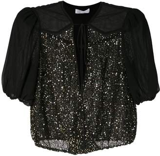 Nk Antares Mabel star sequinned blouse