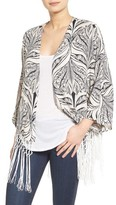 Women's Roffe Accessories Fringe Cover-Up
