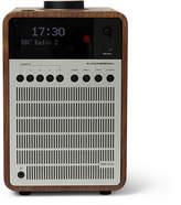 Revo Supersignal Walnut And Aluminium Digital Radio - Silver