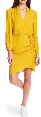 1 STATE Shadow Stripe Wrap Front Dress
