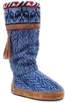 Muk Luks Marisa Knit Faux Fur Lined Slipper Boot