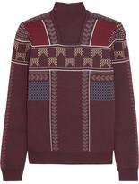 Peter Pilotto Intarsia Wool-blend Sweater - Burgundy