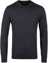 Boss Bagritte-b Charcoal Grey Crew Neck Extra Fine Merino Sweater
