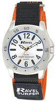 Ravel Men's Surfer 5ATM Velcro Quartz Watch with Silver Dial Analogue Display and Multicolour Nylon Strap R5-10.8G