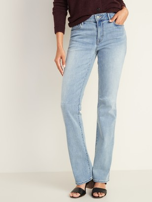 Old Navy Mid-Rise Light-Wash Kicker Boot-Cut Jeans for Women