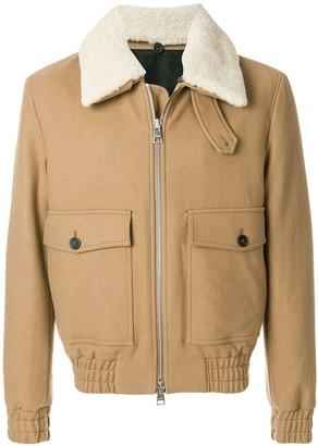Ami Shearling Collar Zipped Jacket