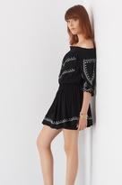 Dynamite Embroidered Off-The-Shoulder Dress