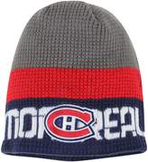Reebok Men's Gray/Navy Montreal Canadiens Center Ice Uncuffed Knit Beanie