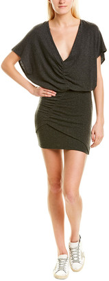 IRO Anthracite Soft Knit Ruched Dress
