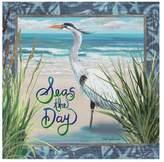 Trademark Fine Art Cindy Fornataro 'Seas The Day Egret' Canvas Art