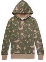 Neighborhood Camouflage-print Fleece-back Cotton-jersey Hoodie - Green