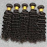Vinsteen Grade 8A Brazilian Virgin Hair Deep Wave 5 Bundles Popular Texture Natural Wave Brazilian Human Hair No Shedding No Tangle Can Be Dyed (5pcs 30 inch)