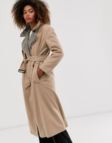 French Connection check collar coat