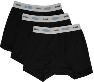 Chemist Creations Three-Pack Black Cotton Boxers
