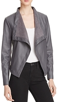 BB Dakota Peppin Draped Faux Leather Jacket
