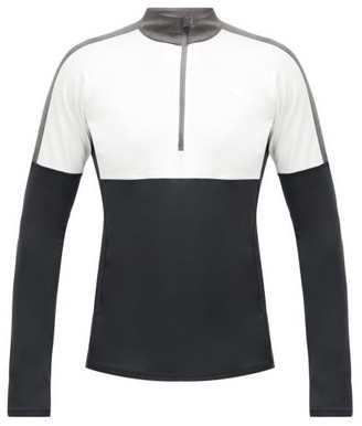 Kjus Race Quarter-zip Thermal-jersey Midlayer Top - Black White